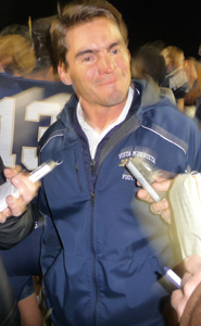 Coach Coley Candaele and his team at Vista Murrieta went 13-1 after going 14-0 on-the-field in 2011.
