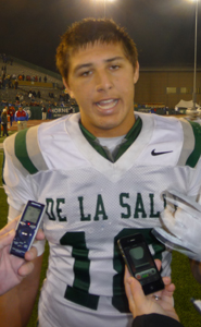 Austin Hooper was a quarterback-sacking, pass-catching machine for De La Salle in its NorCal D1 bowl win against previously unbeaten Folsom.