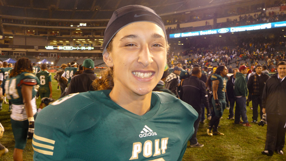 Sophomore Tai Tiedemann's improvement as a starting quarterback has been just one reason why Long Beach Poly is such a different team from early in the season. The Jackrabbits won Friday 28-7 against Clovis North in the D1 South regional championship bowl game.