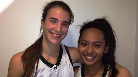 Freshmen Sabrina Ionescu and Keanna de los Santos and their teammates at Miramonte of Orinda will have a giant obstacle to overcome going against Bishop O'Dowd of Oakland in NCS D3 championship on Saturday.