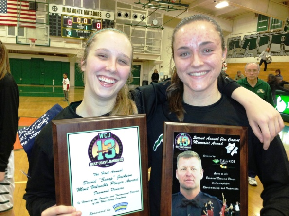 Miramonte's Carly Gill and Megan Reid collected a lot of hardware at the recent West Coast Jamboree and led their team last week to a big win against arch-rival Campolindo. Photo: Harold Abend.