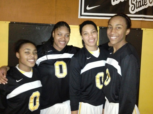 All four of Bishop O'Dowd's college-bound standouts -- Ariel Bostick, K.C. Waters, Breanna Brown and Oderah Chidom -- played well in team's victory last Saturday against St. Mary's of Stockton. Photo: Harold Abend.