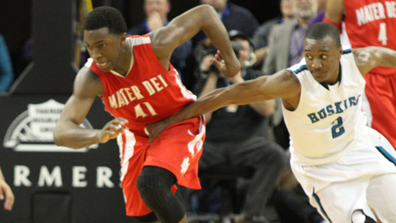 It's been nearly impossible this season for foes to slow down Mater Dei's Stanley Johnson. Photo: Willie Eashman.