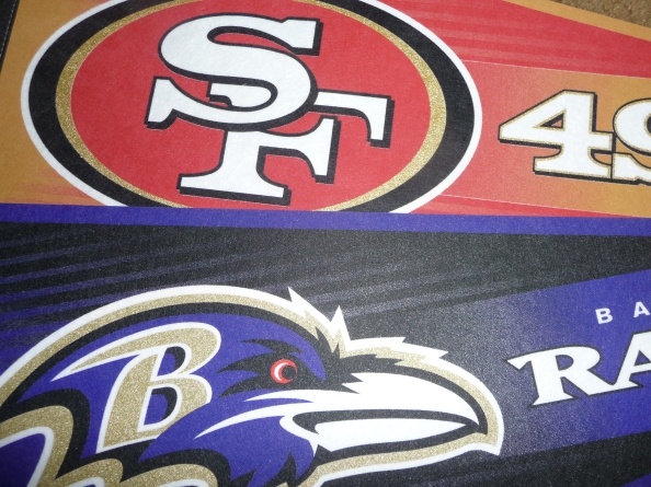 The San Francisco 49ers are slight favorites to beat the Baltimore Ravens in next Sunday's Super Bowl.