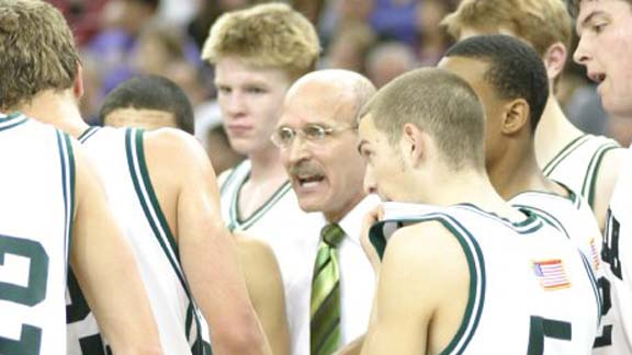 Frank Allocco gives direction to team in one of several CIF state final appearances. Photo: Willie Eashman.