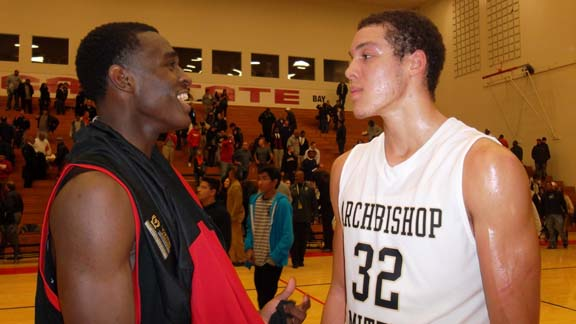 If Jabari Bird of Richmond Salesian and Aaron Gordon of Archbishop Mitty face off again, it probably will be in the NorCal Open Division final. Due to head-to-head results (and not rankings), it is expected that their teams will be seeded No. 1 and No. 2 when pairings are out on Sunday. Sheldon of Sacramento (which has a loss to Mitty) expected for No. 3.