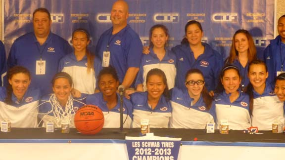 Christian Brothers of Sacramento won the CIF Sac-Joaquin Section Division III girls title on Friday night at Sleep Train Arena with a win over Vanden of Travis AFB, which was going for its 28th win of the season.