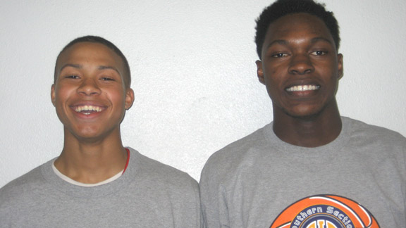 Ron Freeman and Tavrion Dawson of Gardena Serra are on a team that could end up as the state's new Division IV state champion. There will definitely be a new one as Salesian of Richmond will be in new open division.