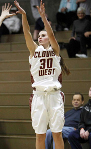 Junior sharpshooter Emily Anderson helped her team win CIF Central Section Division I title. Photo: Courtesy Clovis West High School.