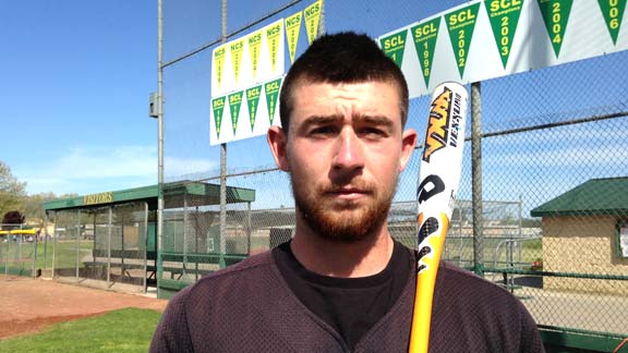 Francis Christy of Petaluma Casa Grande, arguably the top catcher of the 2012 Area Code Games, will have a tough decision in June when the MLB Draft comes around.