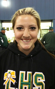 Freshman Hannah Bennett was a hot hitter during all three days of the tourney.