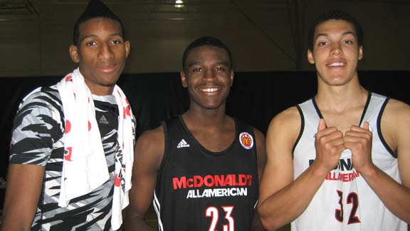 Marcus Lee (left), Jabari Bird (middle) and Aaron Gordon form the largest contingent of McDonald's All-Americans ever from the San Francisco Bay Area. In the event's first 35 years, a total of seven players from the region were selected and each of those selections were in different years. Photo: Ronnie Flores